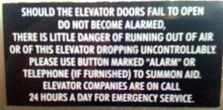 Elevator warning