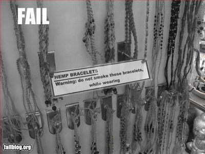 Dont smoke the hemp bracelets