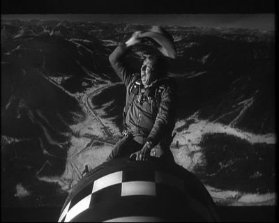 Major Kong rides the bomb in Dr. Strangelove
