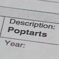 Pop-Tart report