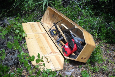 coffin full of nunchucks