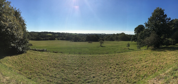 This view was probably less lovely with 10,000 Normans in it