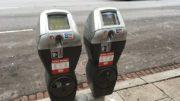 two parking meters