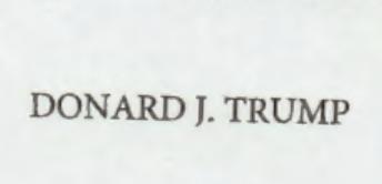 """Donard J. Trump"""